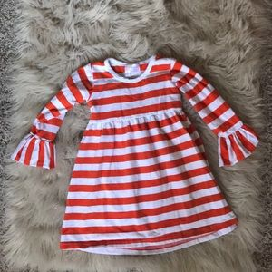3T striped ruffle dress